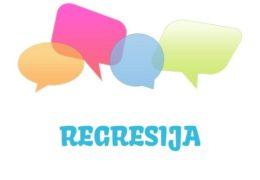 Regresija - značenje,  pojam