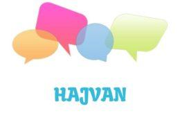 Hajvan - značenje, pojam